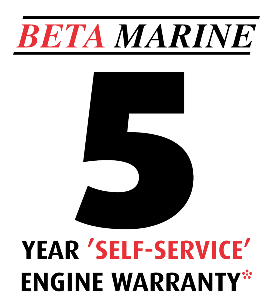 Beta Marine USA - marine diesel propulsion engines - 5 year self service warranty