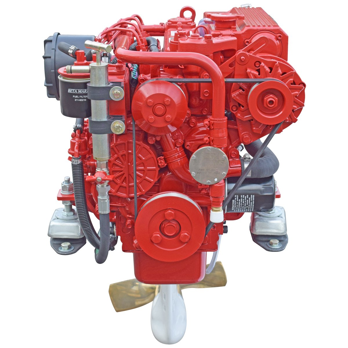 Beta Marine USA - marine diesel saildrive engine - Beta 35 heat exchanger saildriive