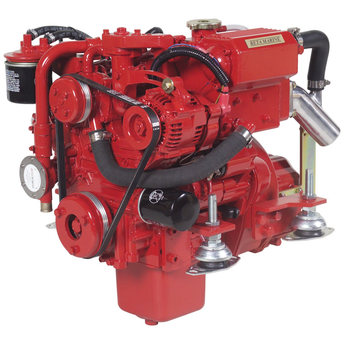 Beta Marine USA - marine diesel propulsion engines - Beta 10 heat exchanger engine