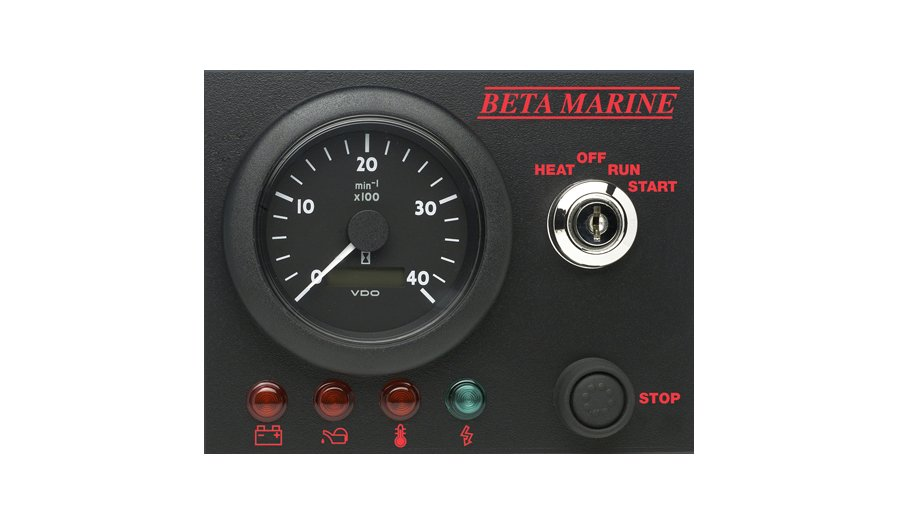 Beta Marine USA - marine diesel propulsion engine - control panel ABV