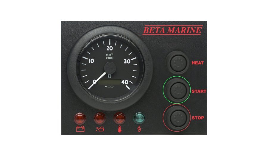 Beta Marine USA - marine diesel propulsion engine - control panel ABVW