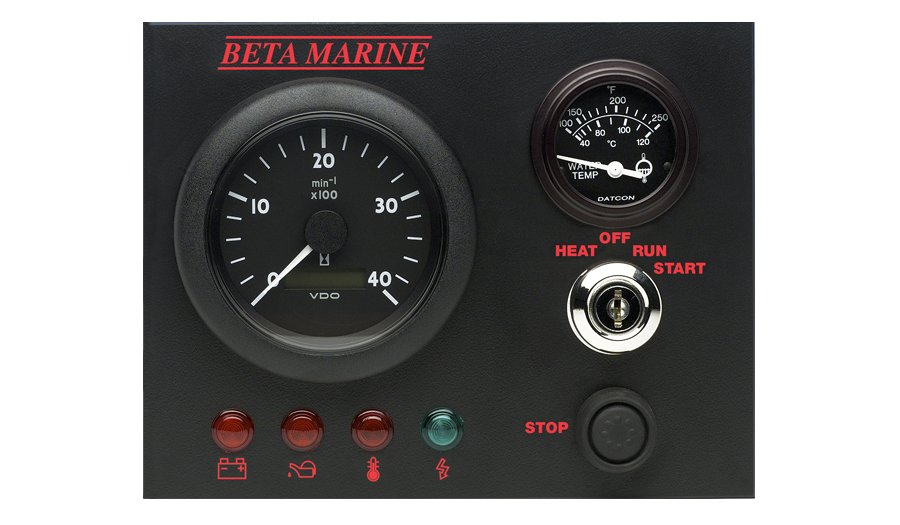 Beta Marine USA - marine diesel propulsion engine - control panel B