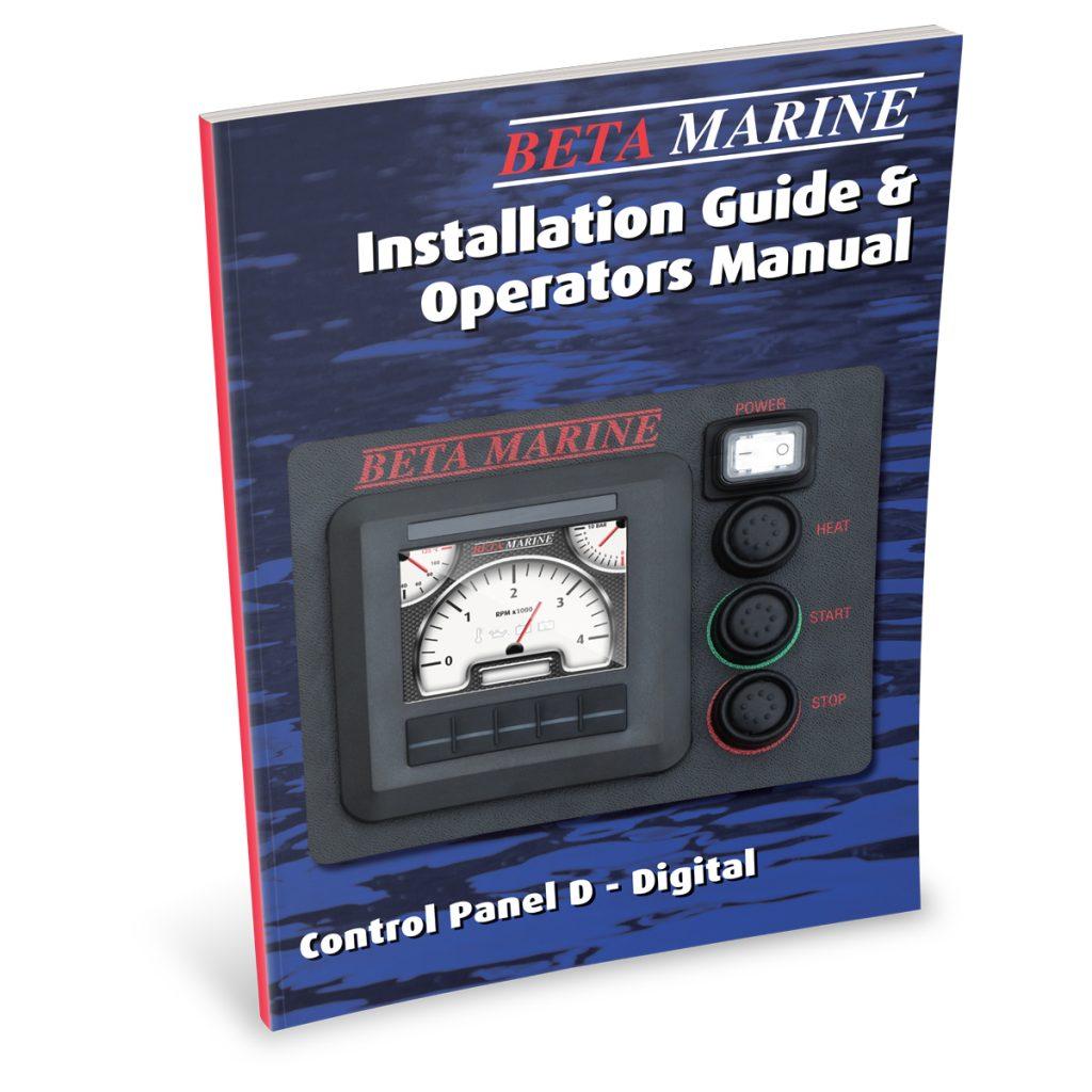 Beta Marine USA - marine diesel propulsion engines - digital control panel D operators manual