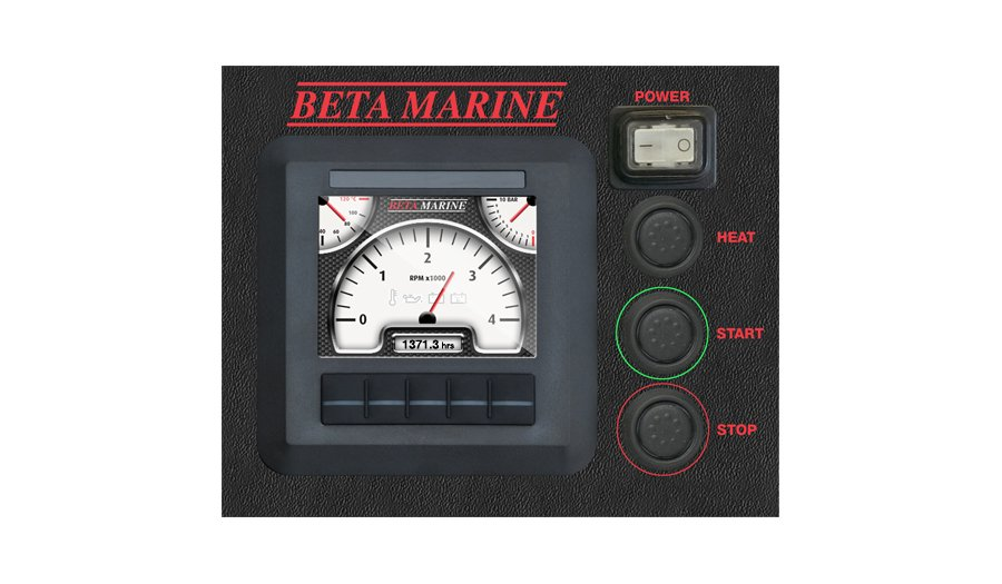 Beta Marine USA - marine diesel propulsion engine - digital control panel D