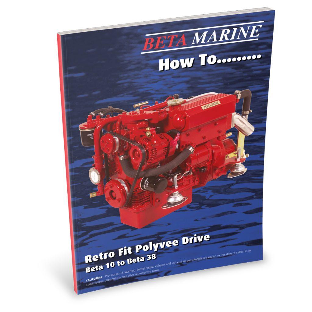 Beta Marine USA - marine diesel propulsion engines - heat exchanger retro polyvee drive belt