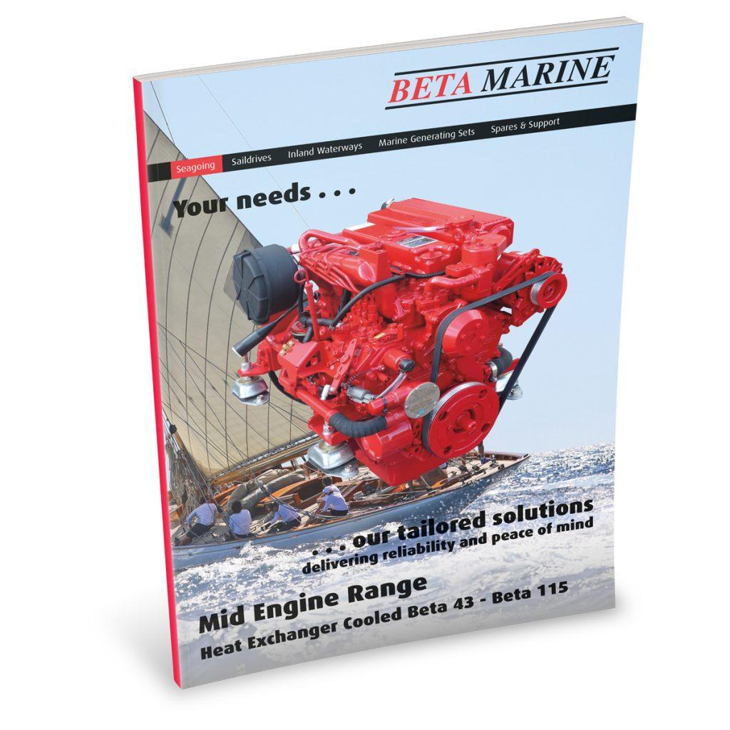 Beta Marine USA - marine diesel propulsion engines - heat exchanger mid/large engines sales brochure