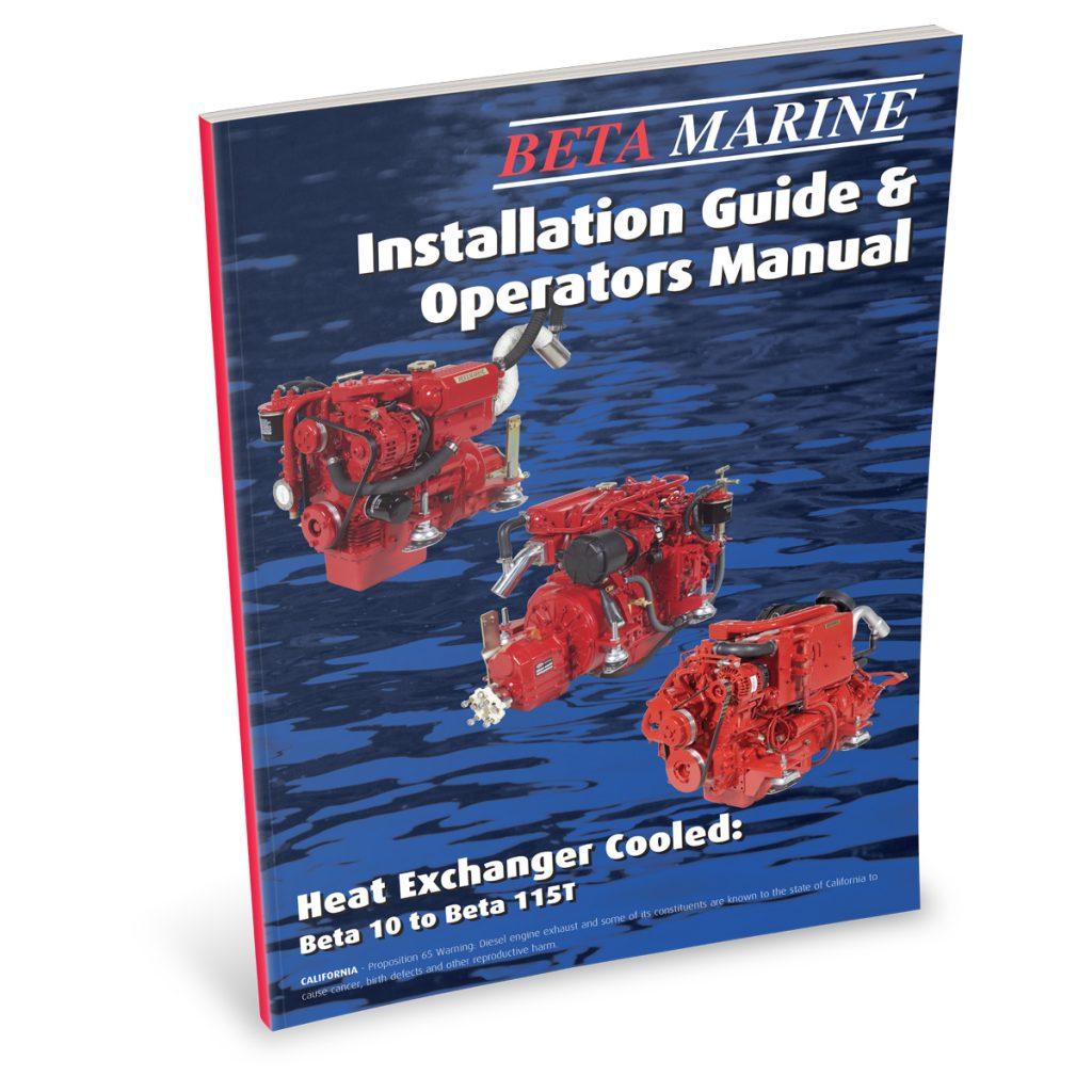 Beta Marine USA - marine diesel propulsion engines - heat exchanger engine operators manual