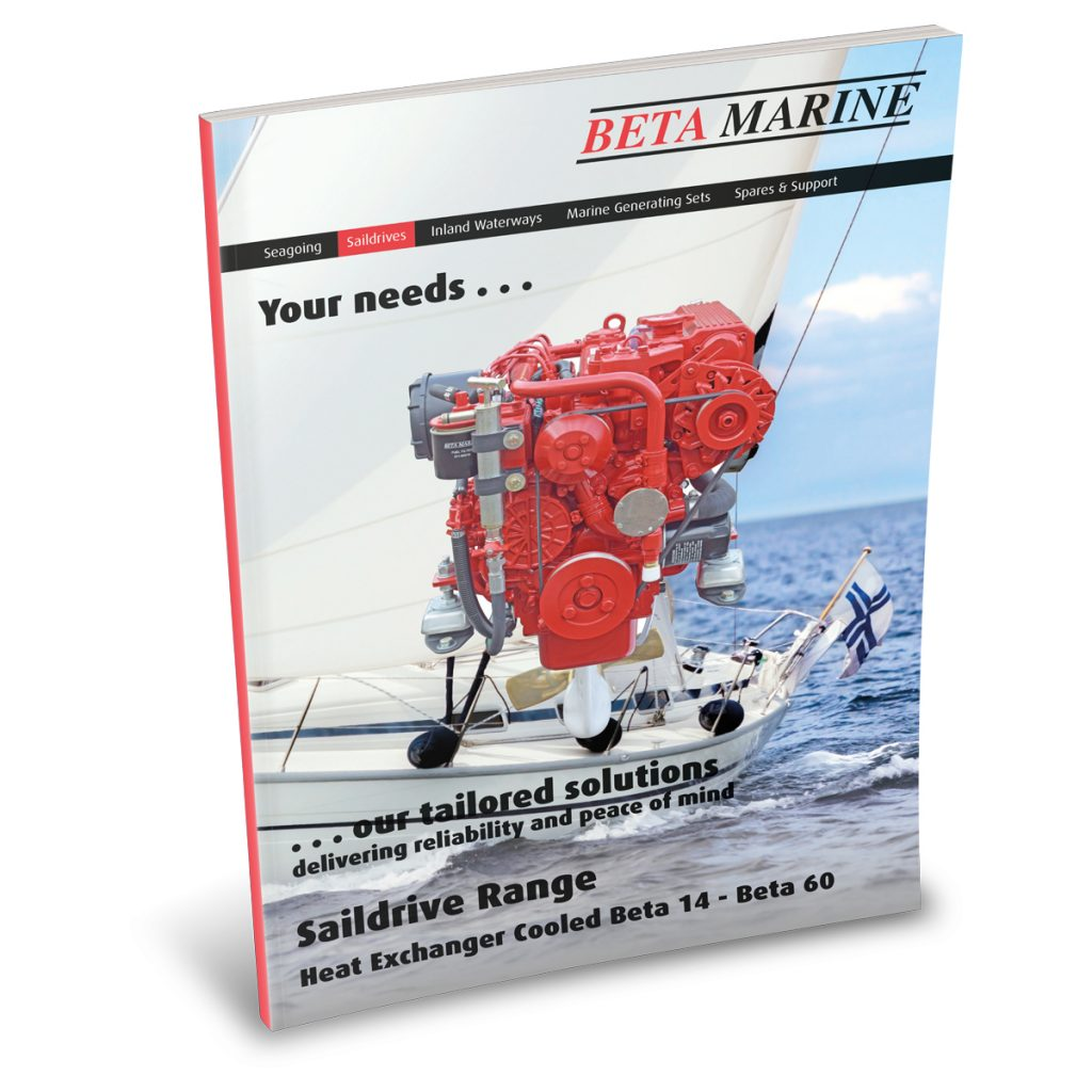 Beta Marine USA - marine diesel saildrive solutions - heat exchanger saildrives sales brochure
