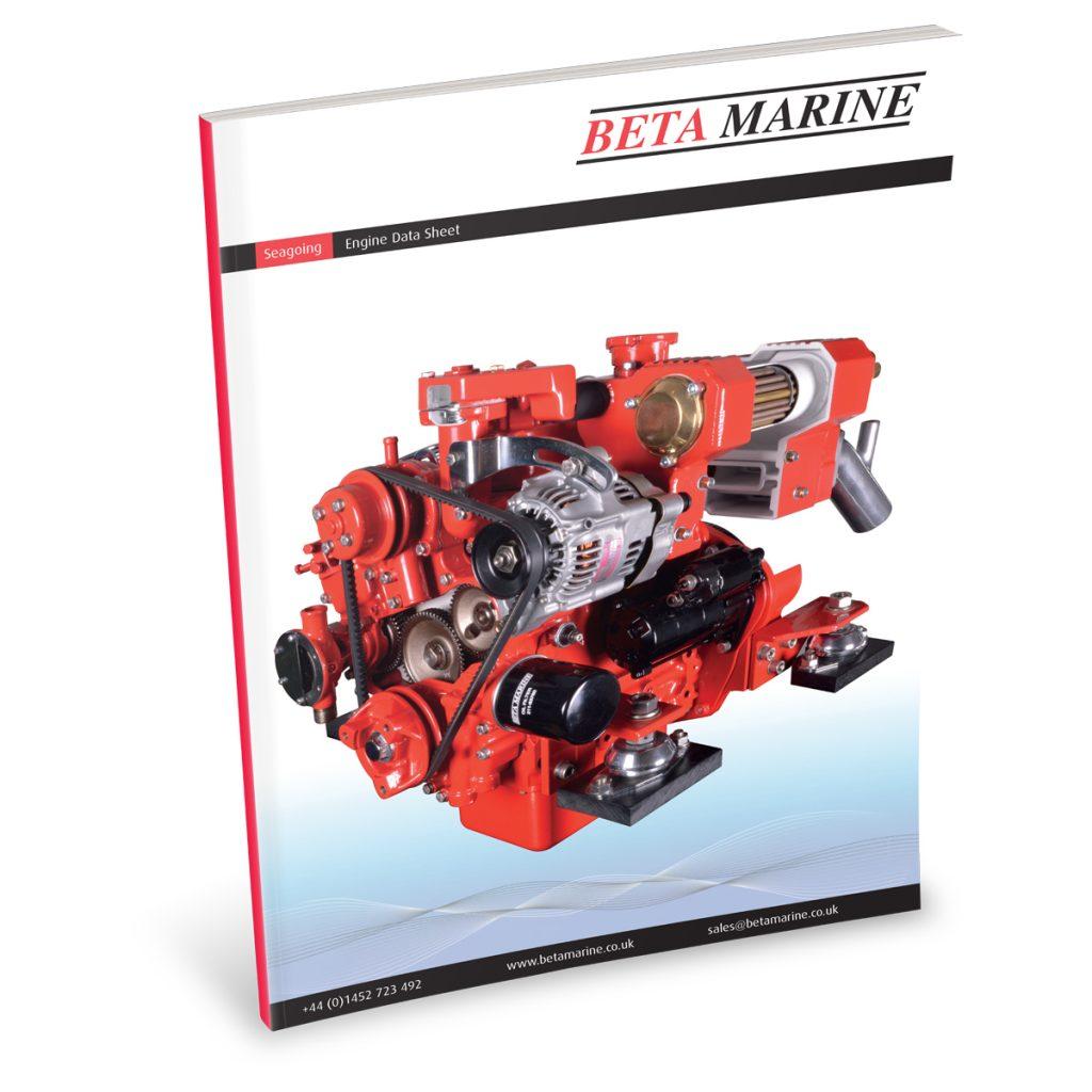 Beta Marine USA - marine diesel propulsion engines - heat exchanger engine datasheet