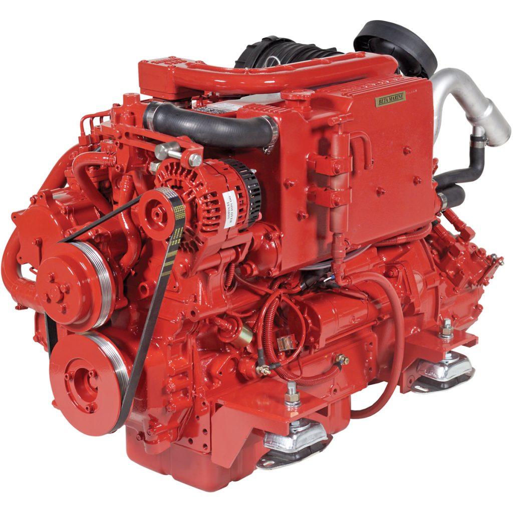 Beta Marine USA - marine diesel propulsion engines - Beta 75 heat exchanger engine