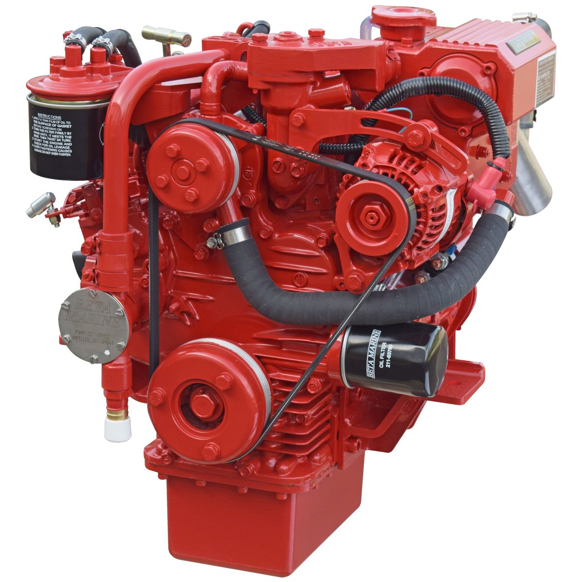 Beta Marine USA - marine diesel saildrive engines - Beta 16SD heat exchanger saildrive engine