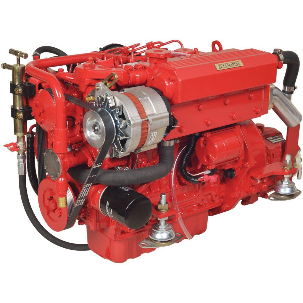 Beta Marine USA - marine diesel propulsion engines - Beta 38 heat exchanger engine