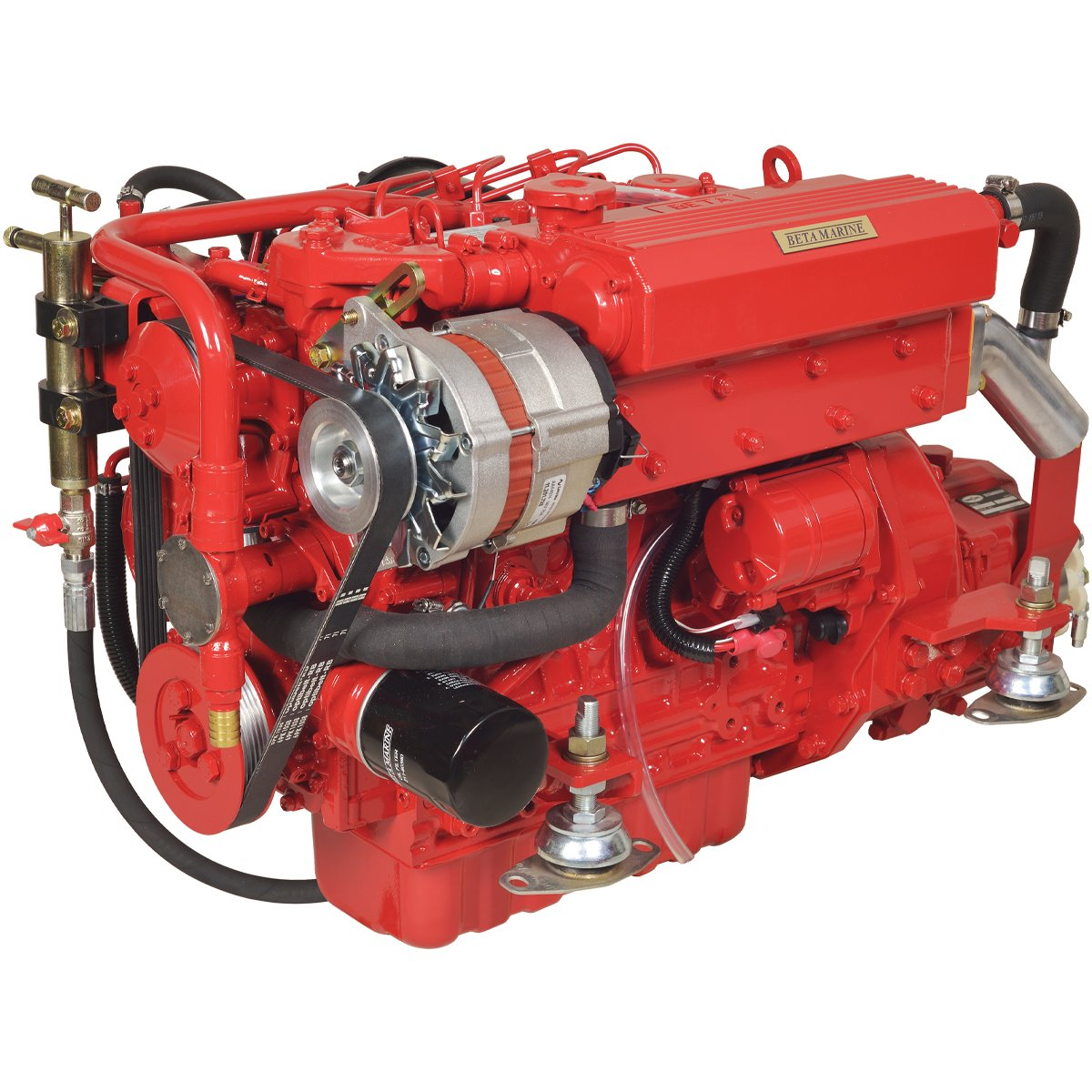 Beta Marine USA - marine diesel propulsion engines - Beta 38 heat exchanger engine