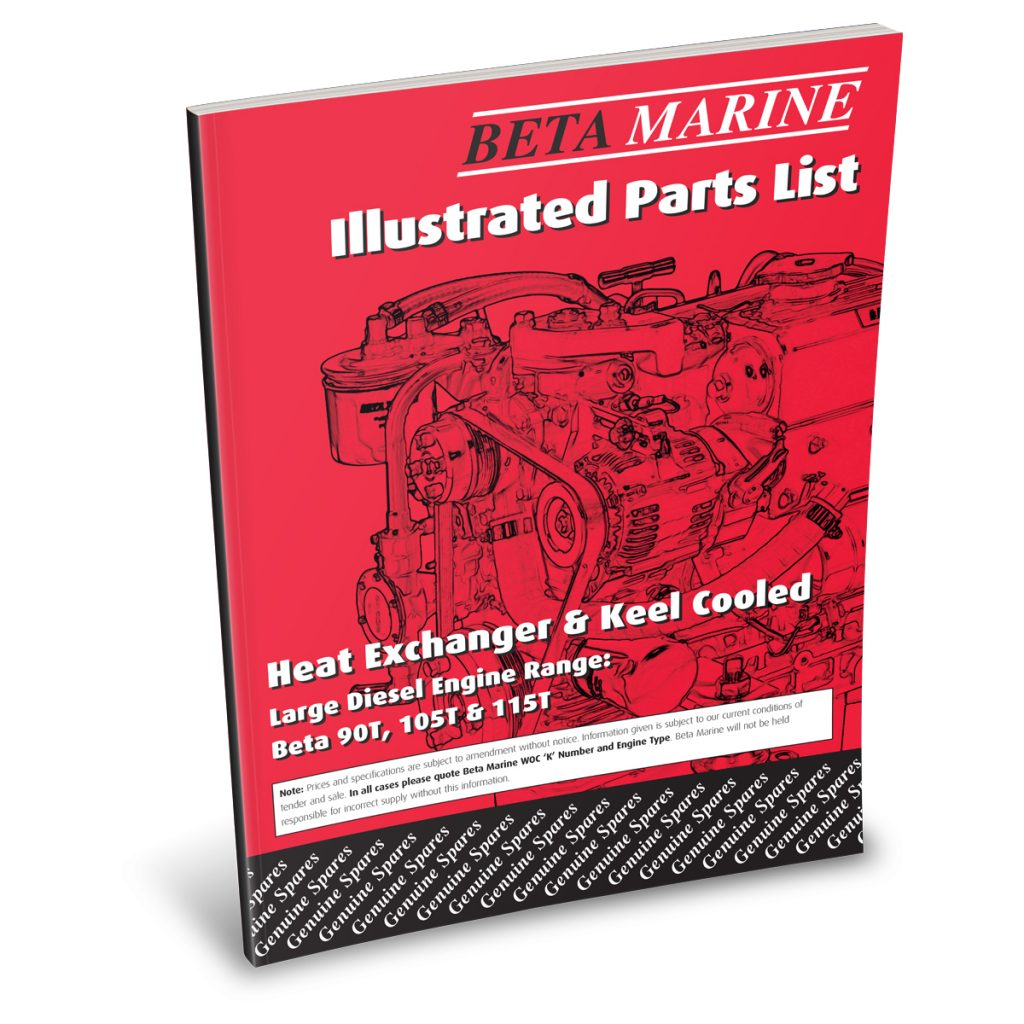 Beta Marine USA - marine diesel propulsion engines - heat exchanger illustrated parts list