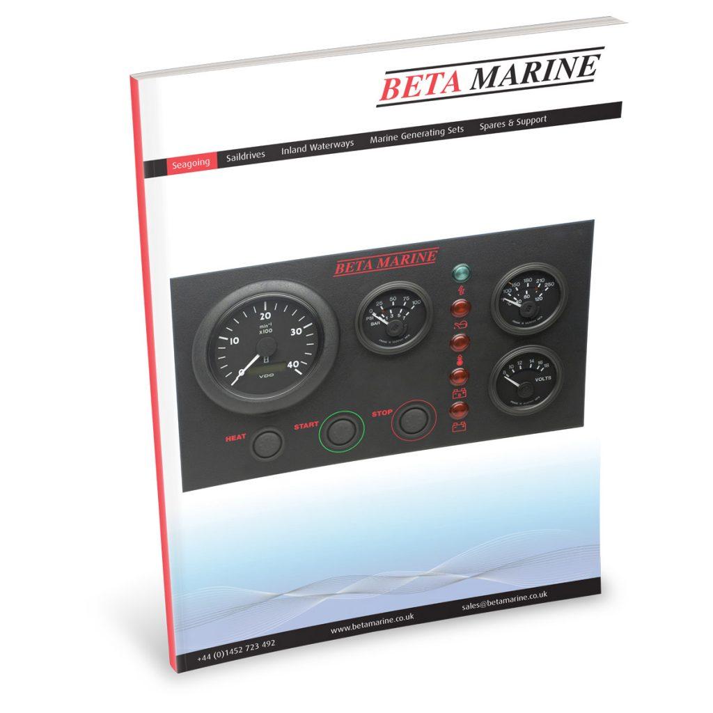 Beta Marine USA - marine diesel propulsion engines - CW control panel cutout datasheet