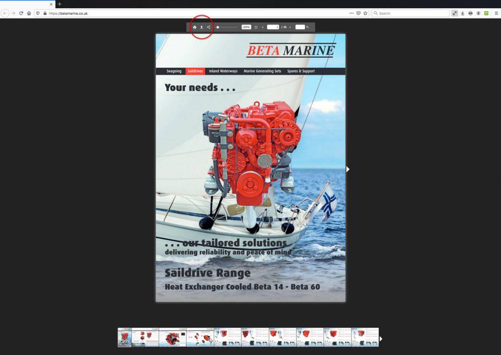 Beta Marine USA - marine diesel propulsion engines - heat exchanger saildrive support literature