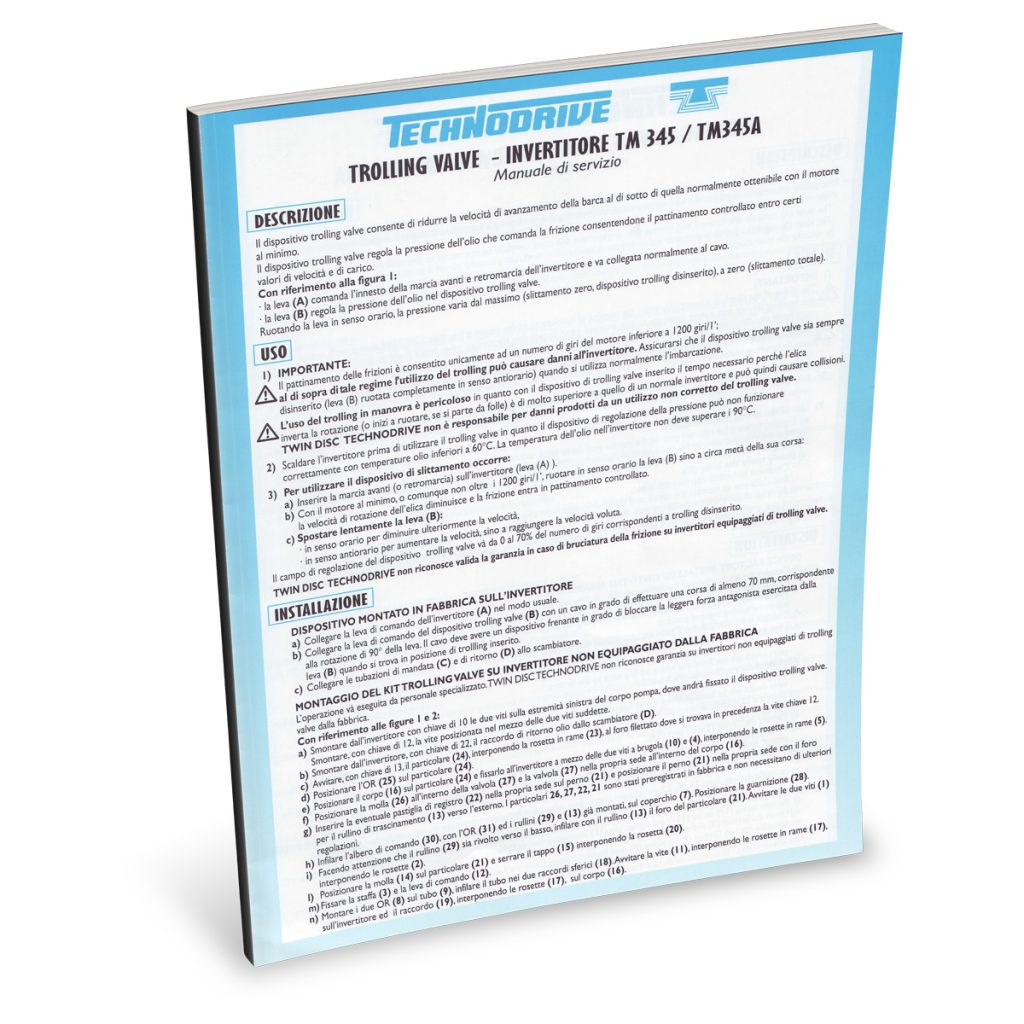 Beta Marine USA - marine diesel propulsion engines - Technodrive TM345 transmission user manual