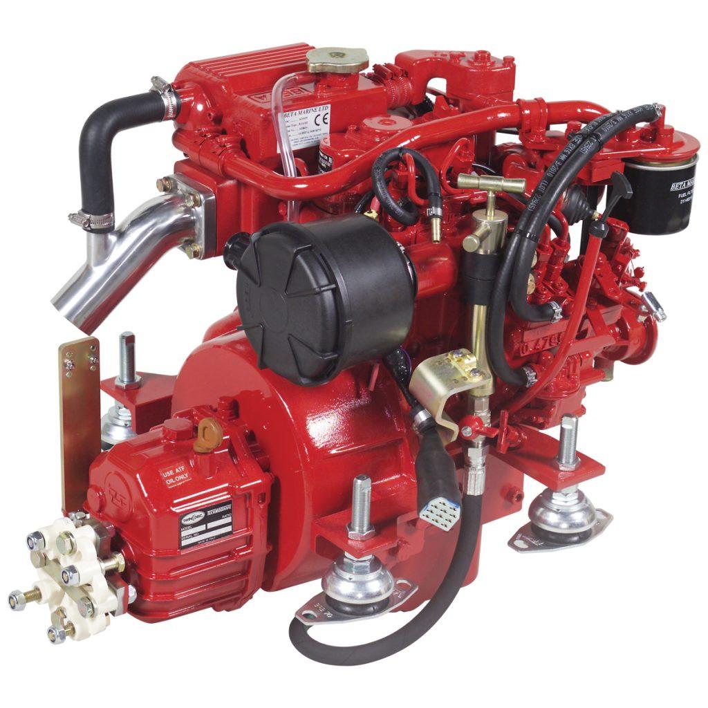 Beta Marine USA - marine diesel propulsion engines - Beta 14 heat exchanger engine