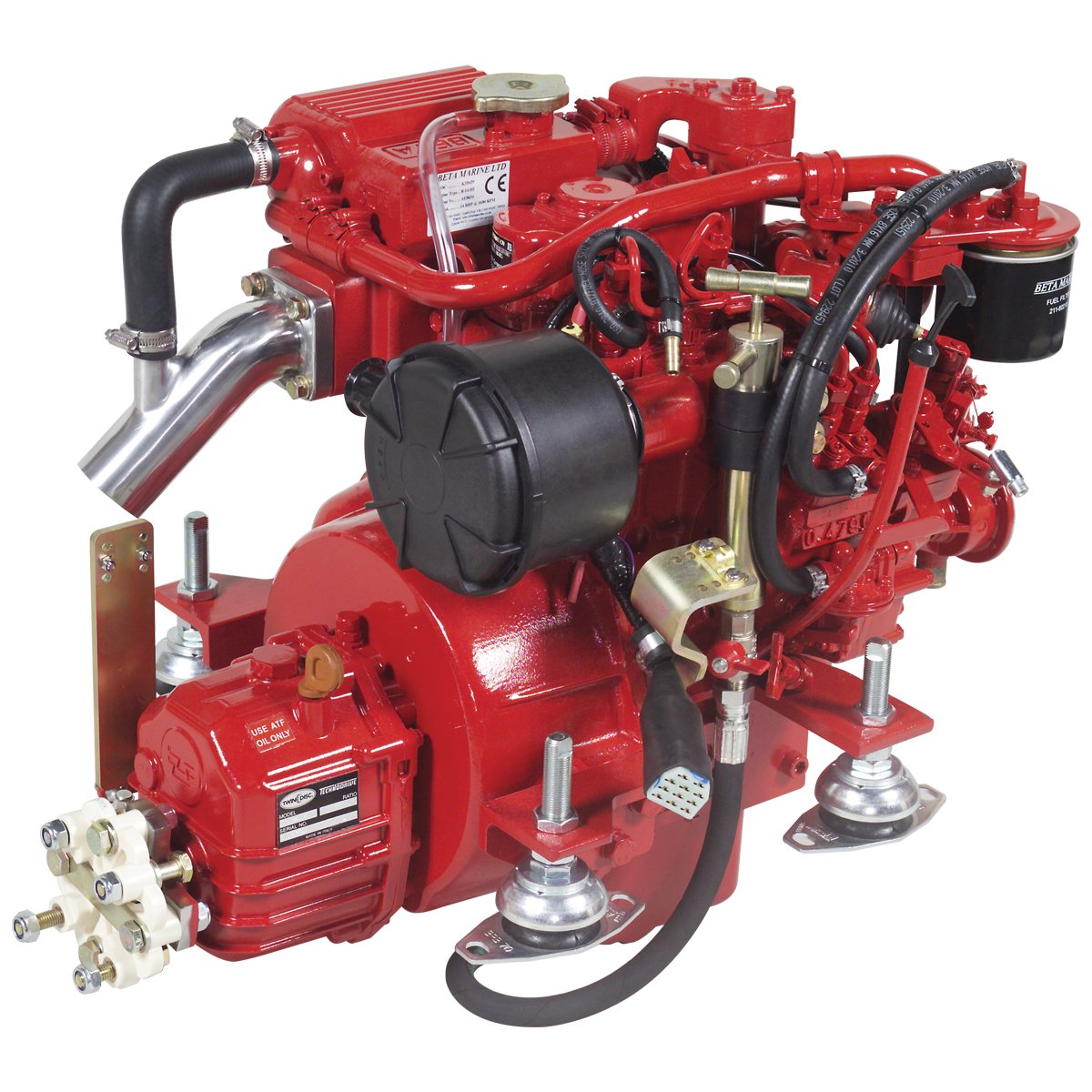 Beta Marine USA - marine diesel propulsion engines - Beta 14 heat exchanger engine