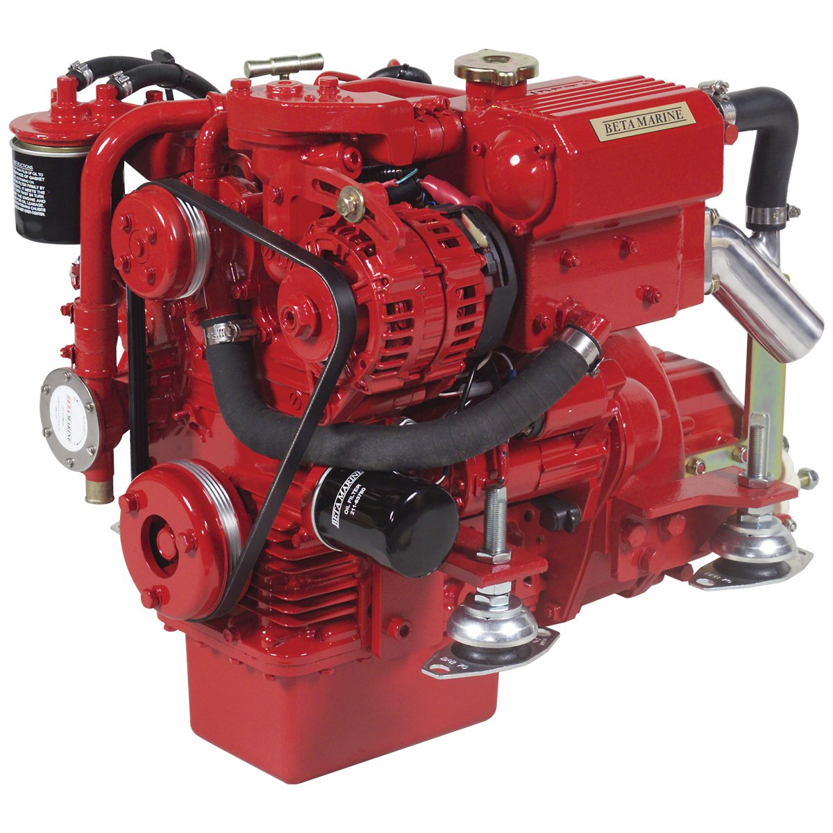 Beta Marine USA - marine diesel propulsion engines - Beta 16 heat exchanger engine