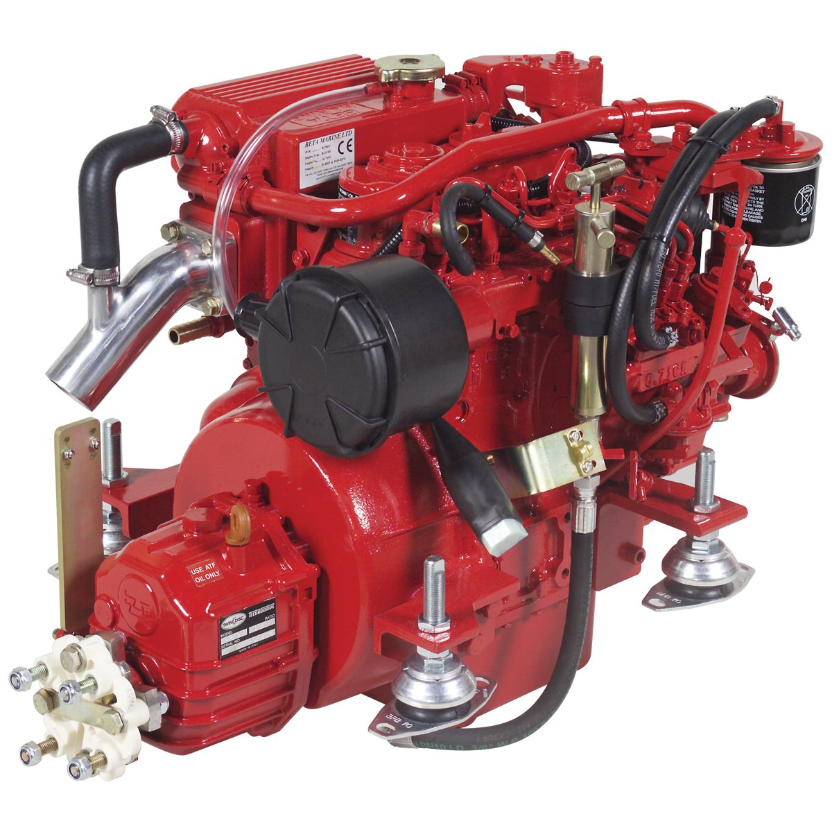 Beta Marine USA - marine diesel propulsion engines - Beta 20 heat exchanger engine