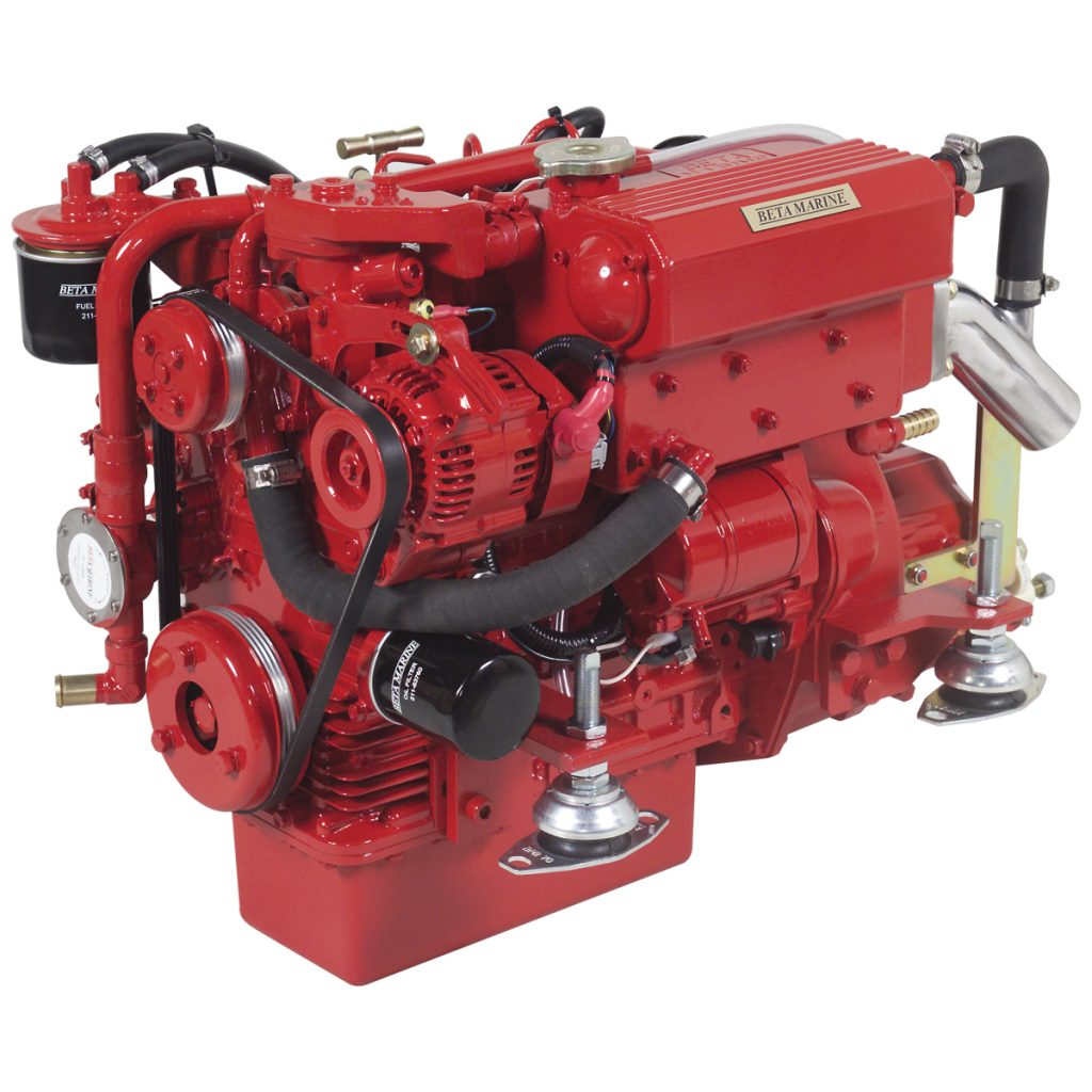 Beta Marine USA - marine diesel propulsion engine - Beta 25 heat exchanger