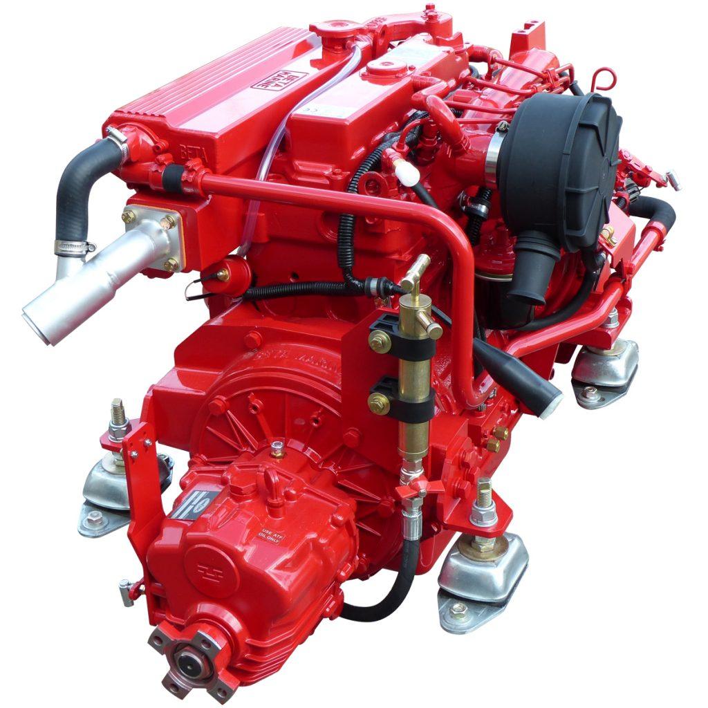 Beta Marine USA - marine diesel propulsion engines - Beta 43 heat exchanger engine