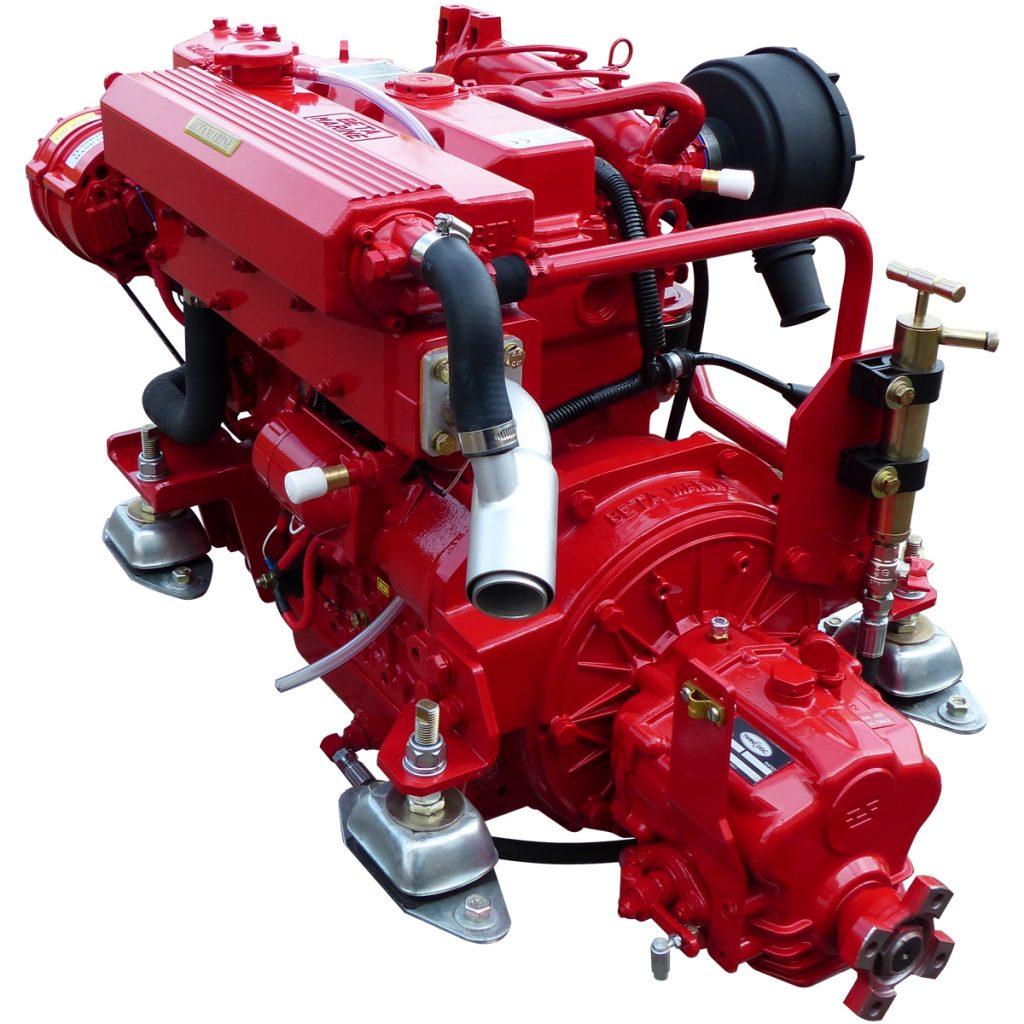 Beta Marine USA - marine diesel propulsion engines - Beta 50 heat exchanger engine