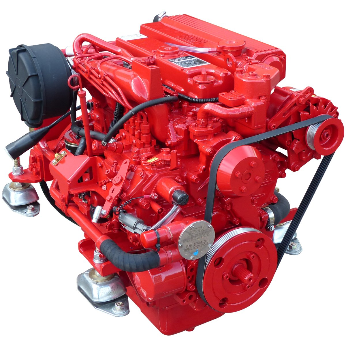 Beta Marine USA - marine diesel propulsion engines - Beta 60 heat exchanger engine