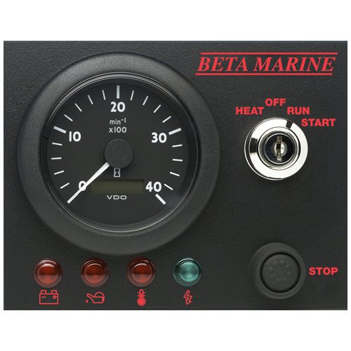 Beta Marine USA - marine diesel propulsion engine - control panel options