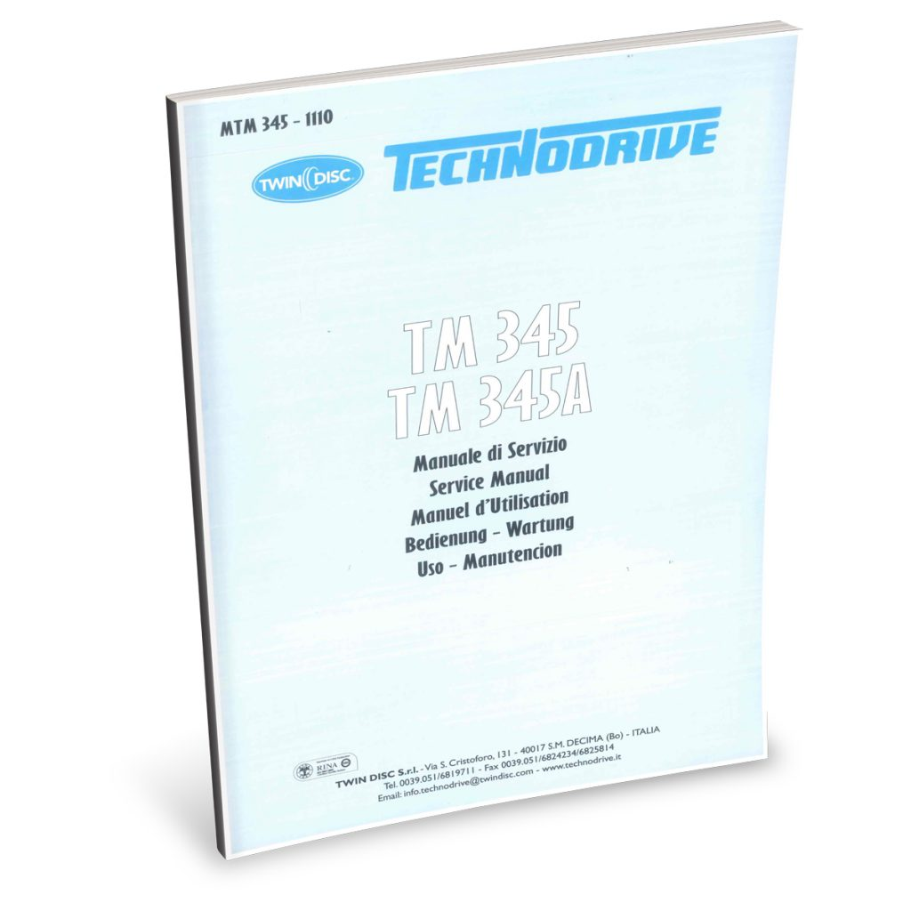 Beta Marine USA - marine diesel propulsion engines - TM345 transmission user manual