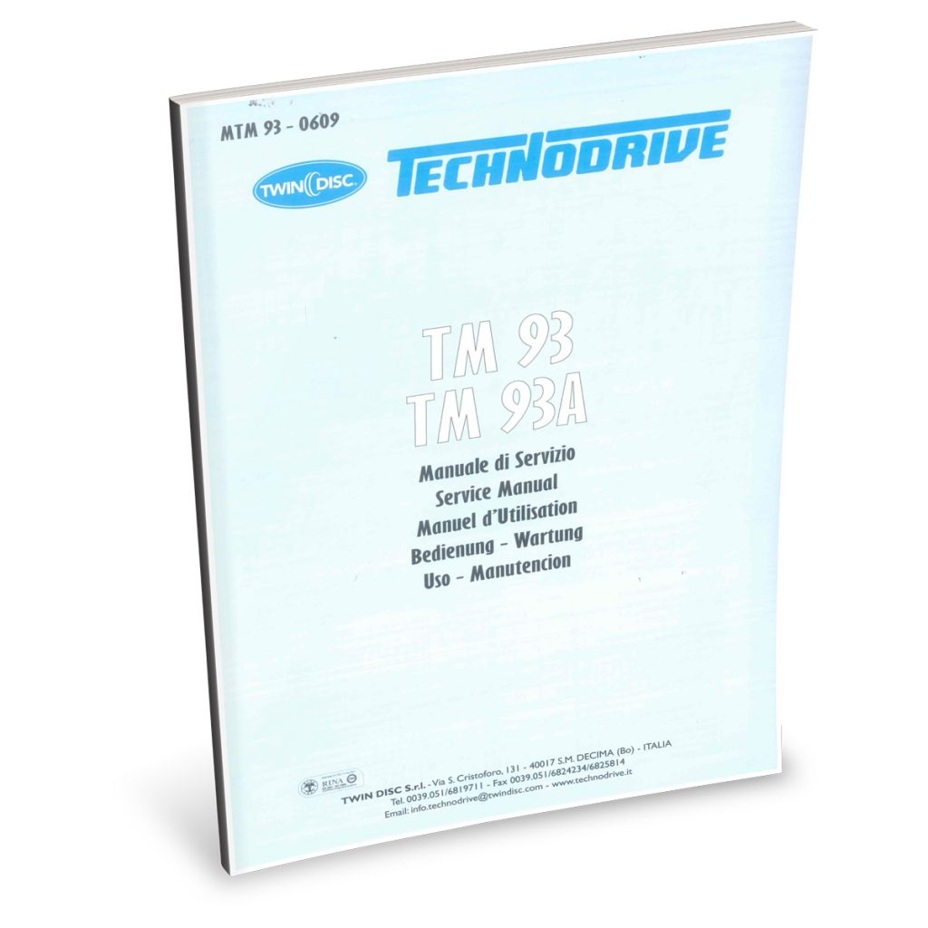 Beta Marine USA - marine diesel propulsion engines - TM93 transmission user manual