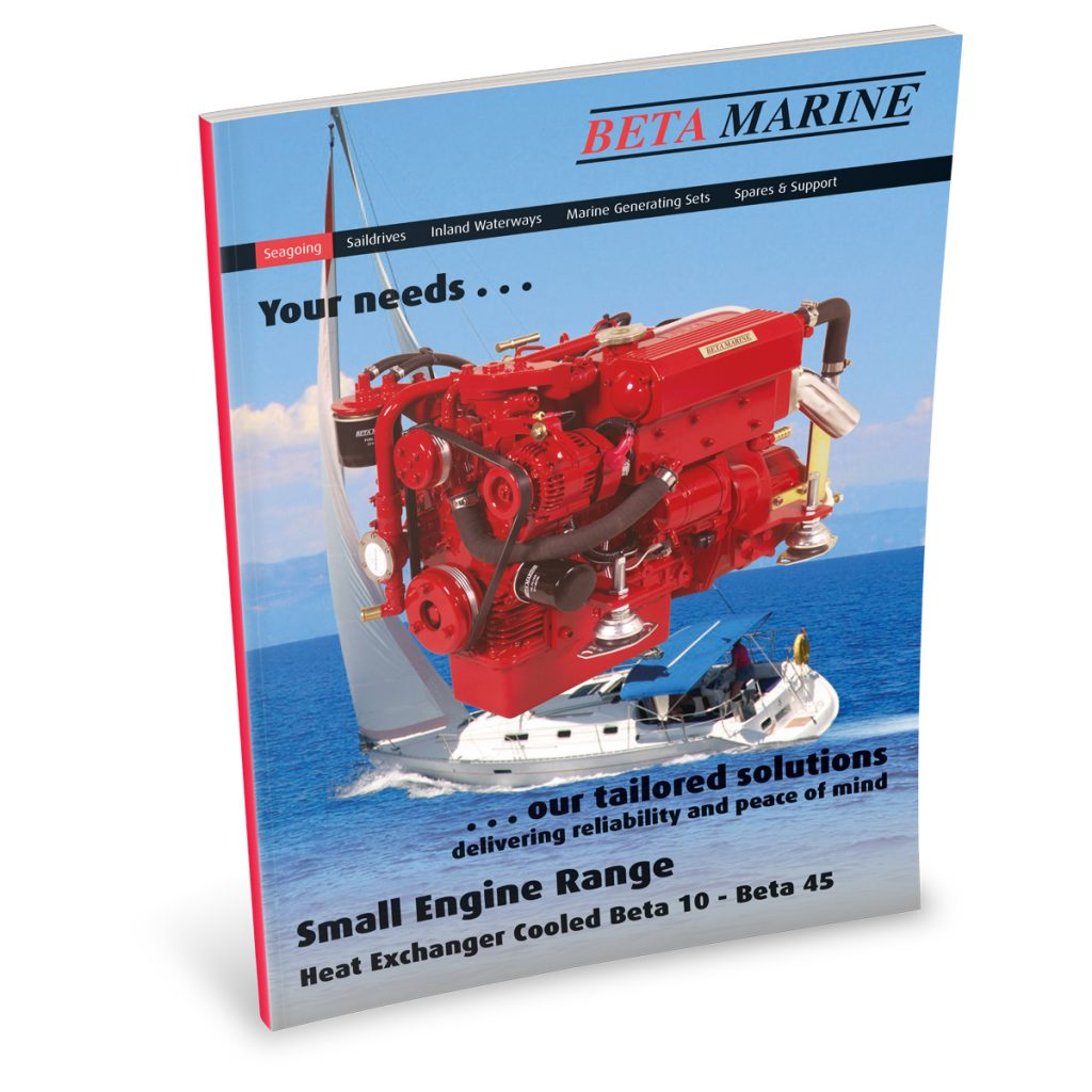 Beta Marine USA - marine diesel propulsion engines - heat exchanger small engines sales brochure